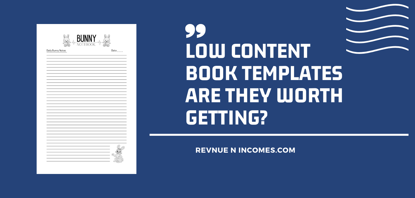 Low Content Book Templates